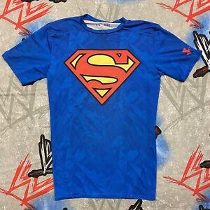 Under Armour Superman HeatGear Compression Shirt DC Comics Medium