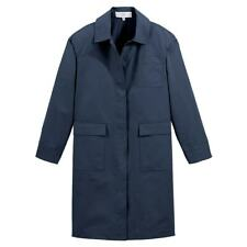 LA REDOUTE Navy Cotton Lightweight Trench Coat Size 10 Chic Quality Tailored RRP