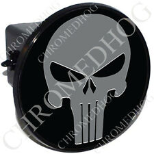 "2"" Tow Hitch Receiver Cover Plug Insert Most Truck & SUV - Grey Punisher Skull B"
