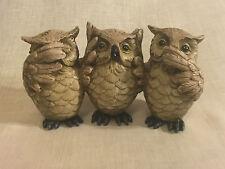 Hear/See/Speak No Evil Owls