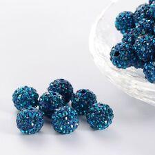 12 unidades pedrería perlas beads perlas Shamballa esmeralda 10 mm (1212)
