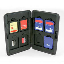 Silver Aluminum Memory Card Storage Case Holders For Micro  HC 16 slots