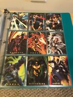 1994 Marvel Flair COMPLETE POWER BLAST INSERT CARD SET, #1-18 - NM/M! - Fleer