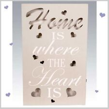 LED LIGHT UP  HOME WALL PLAQUE  HEART DESIGN