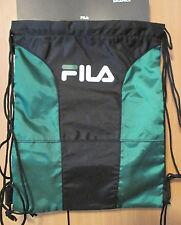 NWT FILA SP-1003 X4 Sackpack Sport Sack Black / GREEN - $40