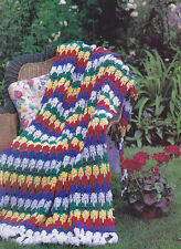 Crochet Pattern ~ Colors Of Summer Afghan ~ Instructions