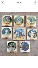 Vintage Knowles Wizard of Oz 8 Collector Plates /Coas Orig Boxes