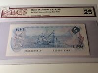 1979 Bank of Canada $5 Test Note - Lawson Bouey BCS Graded VF 25 33000079349