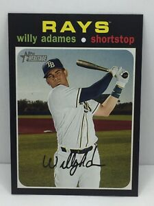2020 Topps Heritage #289 Willy Adames Tampa Bay Rays