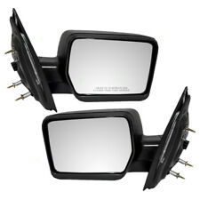 Pair Set Power Side Mirrors Pedestal Type Textured for 04-08 Ford F-150 Pickup