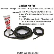 Vermont Dutchwest Gasket Kit for Catalytic 93 + Rope Cement . 3453 0003453