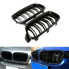 1Pair Gloss Black Front Grille Kidney For BMW 3-Series F31 F30 F35 2012-2016