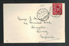 1938 Egypt Cover to England British Military Post Office MPO