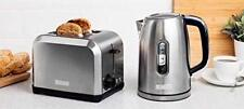 Haden Hampton 2 Slice Toaster Defrost & 1.7L Kettle Twin Set Stainless Steel New