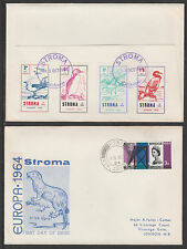 GB Locals - Stroma 3454 - 1964 Europa BIRDS imperf set on cover to London
