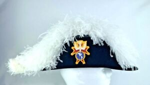 Knights Of Columbus 4th Degree Ostrich Plume Chapeau Hat Sz 7 Made in USA