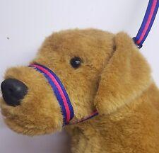 Figure of eight Airweb cushion  dog halter headcollar & Lead in  Pink & Purple
