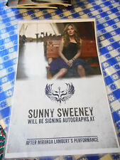 Sunny Sweeney Laminated Autograph Session  Promo Poster