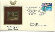 22KT Gold Replica United States Stamp Winter Olympics Figure Skating 1992