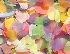 Pastel Biodegradable Confetti Hearts Bright Bold Rainbow Colours Handmade