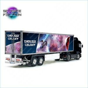 Tamiya 56302 1/14 Trailer Science Fiction Galaxy Laminated Side Abstract Decals