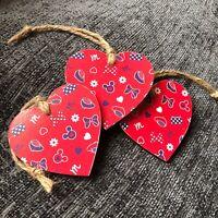 Disney Mickey Mouse Minnie Handmade Wooden Hanging Hearts Gift Nursery