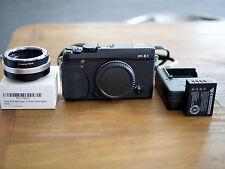Fujifilm X Series X-E1 16.3MP Digital SLR Camera - Black with Nikon adapter!