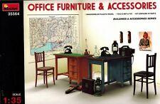 MiniArt 35564 Office Furniture Set & Accessories - Zubehör Möbel - 1:35
