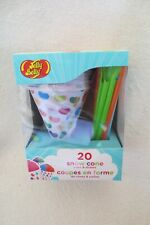Jelly Belly 20 Show Cone Cups and Straws In Box New