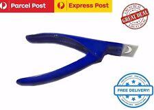 Acrylic False Nail Tip Cutter Clipper Salon Nail Edge Art Tip Trimmer Blue,New