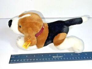 """STEIFF BEAGLE PLUSH 668173 American Kennel Club 10.5"""" AKC EAR TAG COLLAR dog"""