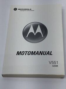 Motorola V551 GSM Cell Phone User Manual Flip Phone Guide