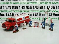 lot diorama ESSO : Camion MAN Ixo + 5 personnages HORNBY + Pompe Dinky toys