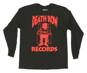 Death Row Records Red Logo Mens Black Long Sleeve Shirt New Official Size S - XL