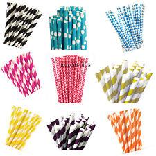 20 Retro Stripe Dot Vinta Paper Drinking Strawsge Party Birthday