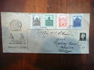 1948 NETHERLANDS  Holland First Day Cover FDC To USA  $25.00