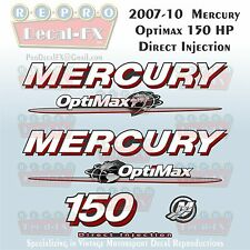 07-10 Mercury Optimax Globe 150HP Direct Injection Outboard Repro 7 Pc  Decals