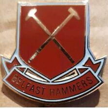 West Ham Utd Belfast Hammers Badge ( Free Postage UK)