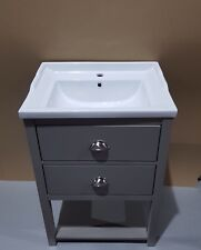 Painted Traditional Washstand Unit 600mm wide drawer bathroom Cabinet,