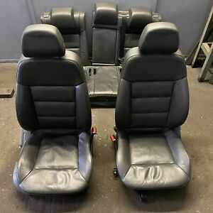 GENUINE VAUXHALL VECTRA C - FRONT & REAR ELECTRIC BLACK LEATHER INTERIOR SEATS