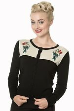 Banned Mermaid Maiden Black Nautical Cardigan Vintage Rockabilly 8 To Plus Size