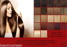 Nano Ring Hair Extension. 100% Remy European Human Hair. Straight.