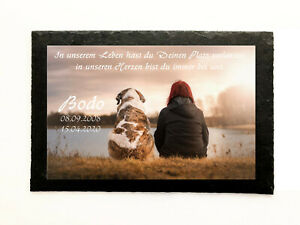 Animal Lápida Placa Conmemorativa Texto & Foto Personalizada Presión Perro Gato