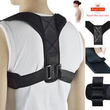Posture Corrector Back Shoulder Body Correction Support Brace Adjustable BLACK J