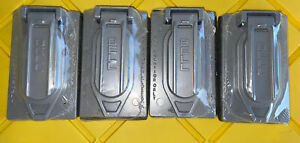 Hubbell-Bell 5146-0 1-Gang Device Cover Vertical Duplex - Gray (lot of 4)