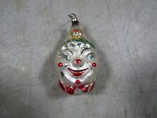 Vintage Clown Snowman Happy Figure Christmas Tree Ornament Austria Mercury Glass
