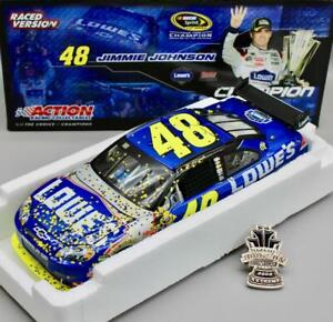 1/24 ACTION 2009 JIMMIE JOHNSON #48 LOWE'S RACED VERSION w/ PIN 4X CHAMPION