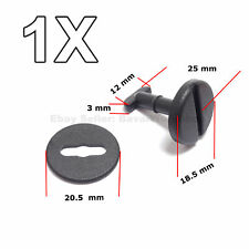 1X Black, Twist lock, Carpet Floor Mat Clip for BMW E34 E38 E39, E31, E32, E34
