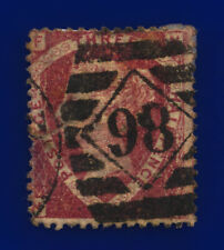 1870 SG52 1½d Lake-Red Plate 1 G6(2) NF Misperf London Fair Used Cat £110 cvpl