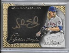 2017 Topps Five Star Noah Syndergaard 47/50 Golden Graphs On Card Auto Mets